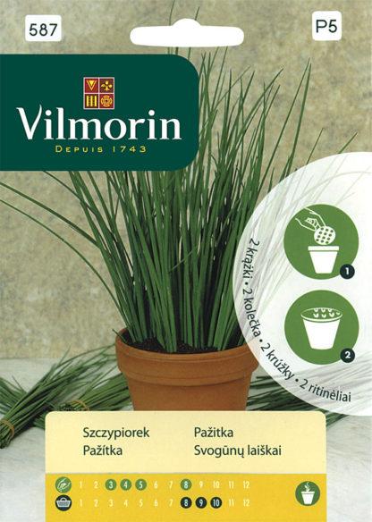 Pažitka na výsevním kolečku (Vilmorin)