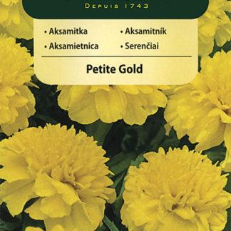 Aksamitník rozkladitý Petite Gold - žlutý (Vilmorin)