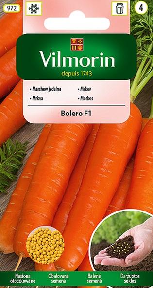 Mrkev Bolero F1 - obalovaná semena (Vilmorin)