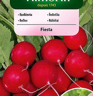 Ředkvička Fiesta - červená, obalovaná semena (Vilmorin)
