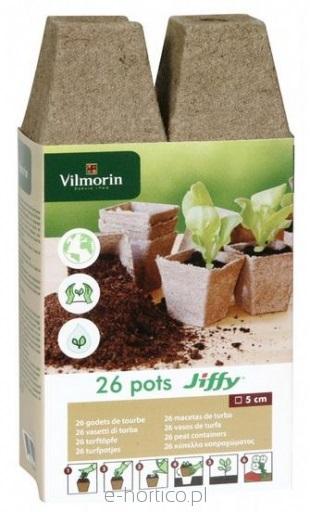 Rašelinový květináč hranatý Jiffy® (26 ks, 5 cm, Vilmorin)