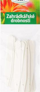Zahrádkářské jmenovky L4 - 20 ks, zapichovací, bílé, rovné, 10 x 1,4 cm (rosteto)