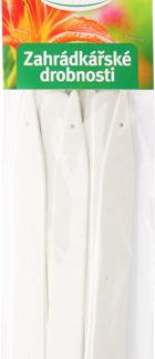 Zahrádkářské jmenovky L6 - 15 ks, zapichovací, bílé, rovné, 15 x 1,7 cm (rosteto)