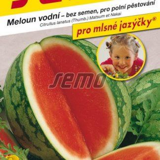 Meloun vodní Granate F1 - červený, bez semen (Semo)