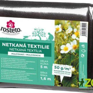 Netkaná textilie (mulčovací, černá), 5 x 1,6 m, pevnost 50 g/m2 (rosteto)