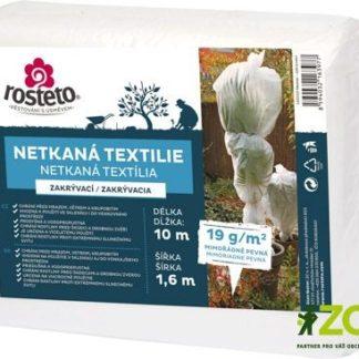 Netkaná textilie (zakrývací, bílá), 10 x 1,6 m, pevnost 19 gm2 (rosteto)