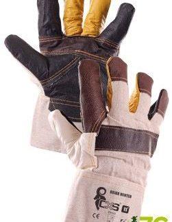 Pracovní rukavice Bojar Winter - zimní, kombinované, velikost 11 (CANIS SAFETY)
