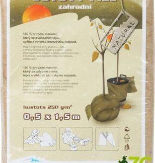 Jutový filc (zahradní, 0,5 x 1,5 m)