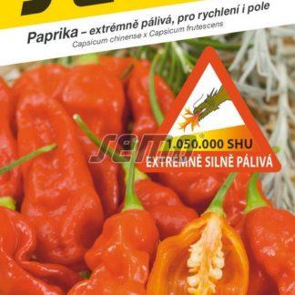 Paprika Bhut Jolokia - červená, extrémně silně pálivá (Semo)