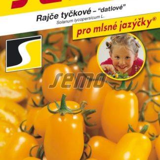 Rajče tyčkové Datlo - datlové, žluté (Semo)