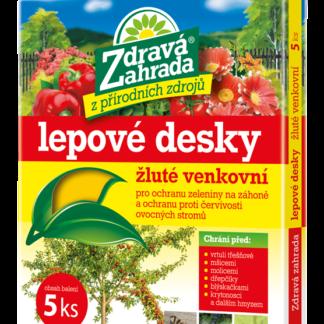 Lepové desky venkovní žluté - 5 ks (Zdravá zahrada)