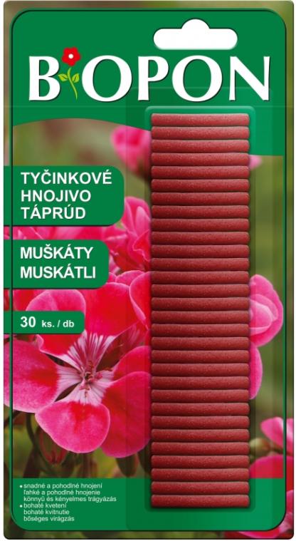 Tyčinkové hnojivo na muškáty BiOPON (30 ks)