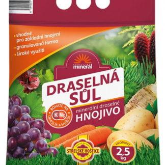 Draselná sůl (minerální hnojivo, granulovaná, 2,5 kg)