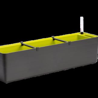 Truhlík samozavlažovací Berberis 80 cm (antracit + zelená)