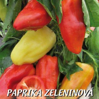 Paprika zeleninová Balkónovka - silnostěnná, žlutobílá-červená, do nádob (Libera)
